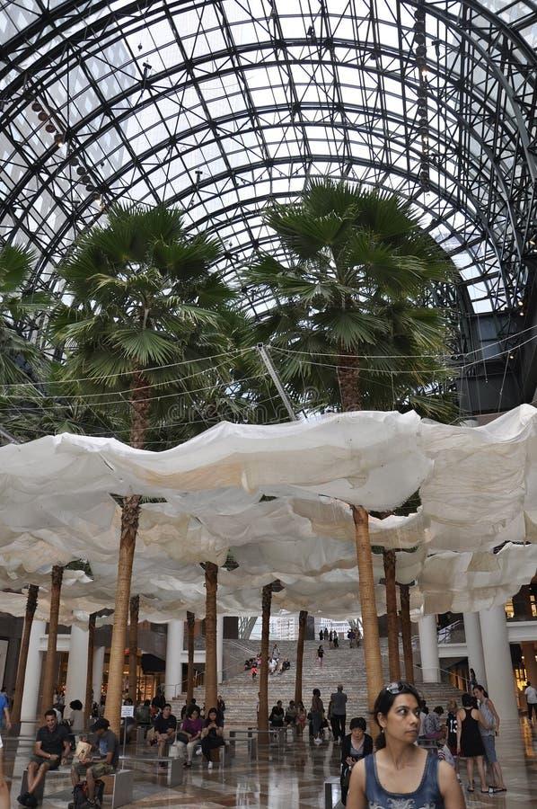 New York City, o 2 de julho: Interior do lugar de Brookfield em Manhattan de New York City no Estados Unidos imagens de stock