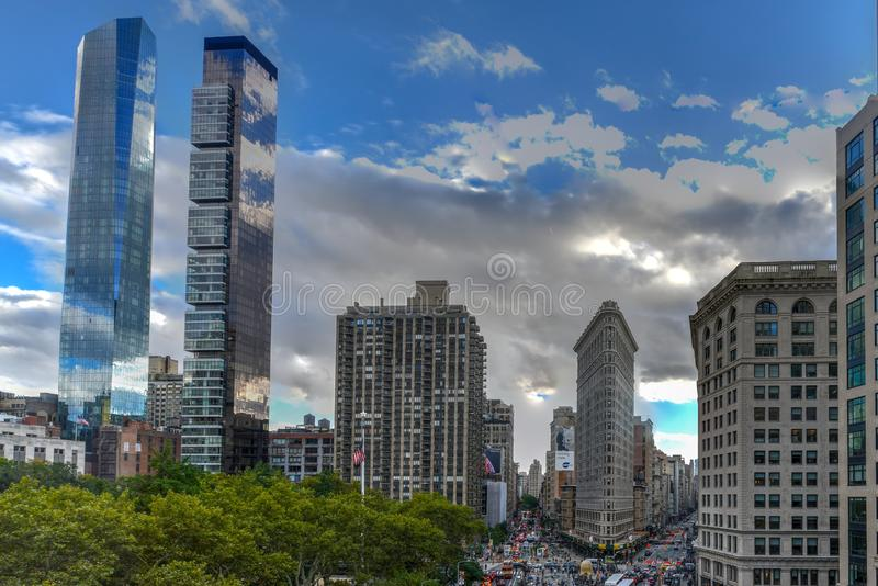 Flat Iron Building - New York City royalty free stock images