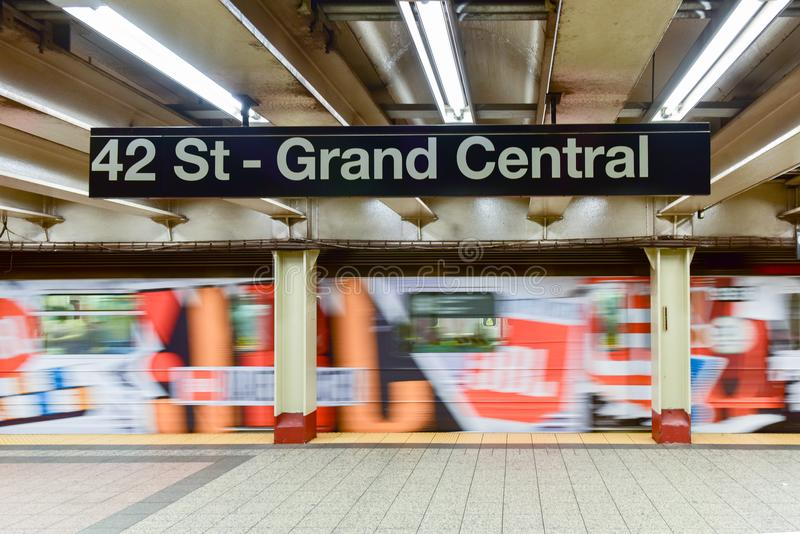 42 St - Grand Central Subway Station stock photo