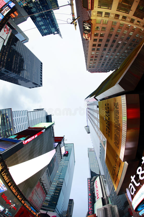 NEW YORK CITY. OCTOBER 9: Times Square featured with Broadway Theaters and huge number of LED signs is a symbol of  and the United States October 9 2012 in stock photo