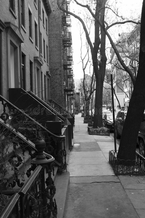 New York City. Old streets. From light to shadow royalty free stock photography