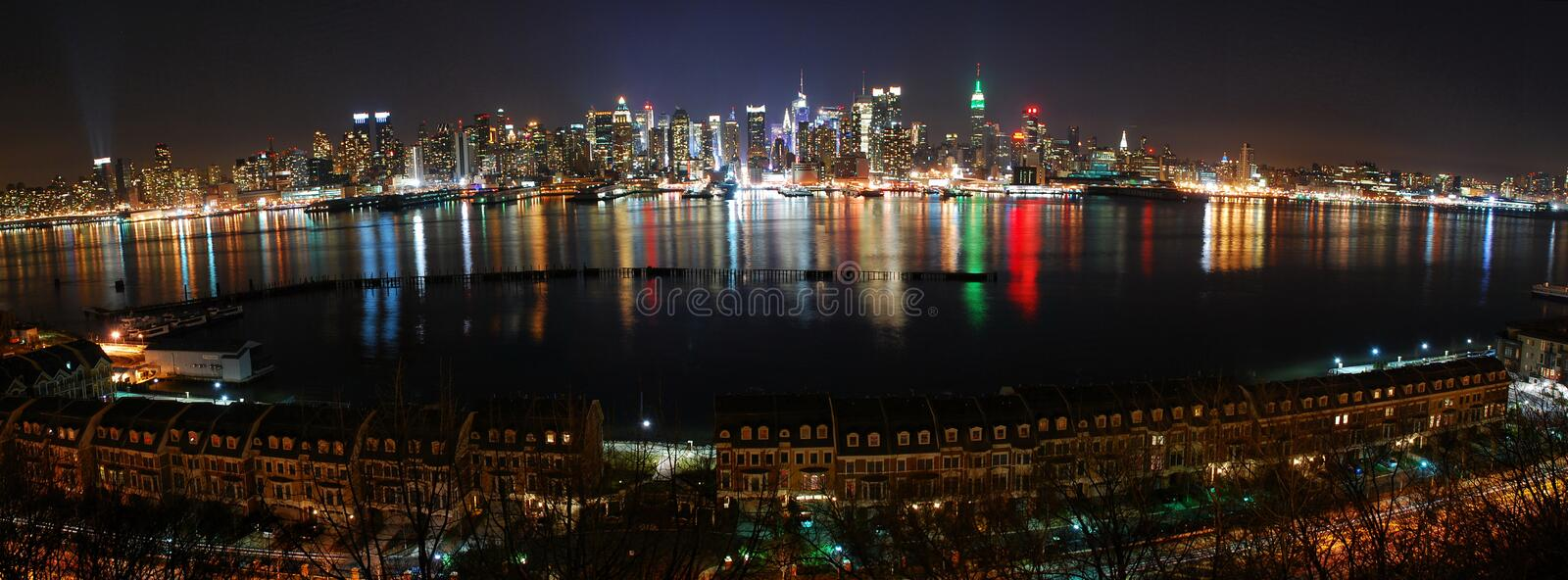 Download New York City Panorama Over Hudson River Stock Photo - Image: 12752590