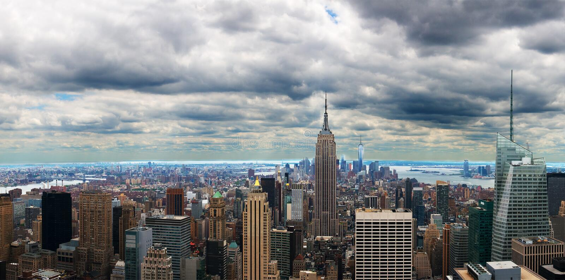 New York City panoramisch, Panorama stockfotografie