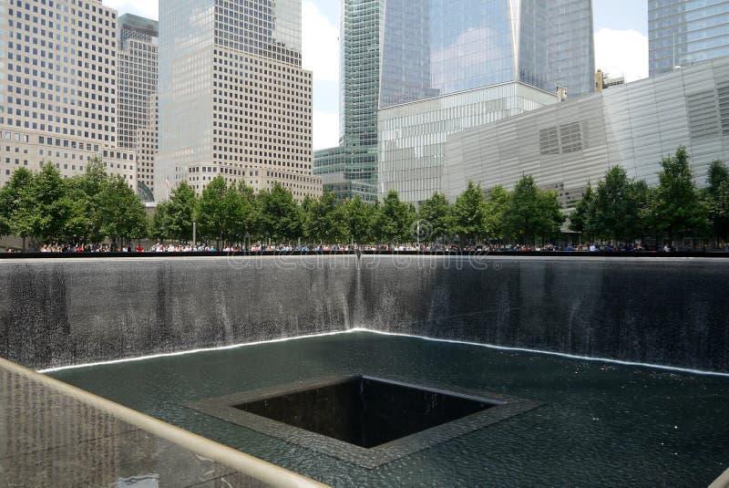 New York City : 9/11 parc commémoratif h de point zéro photo libre de droits