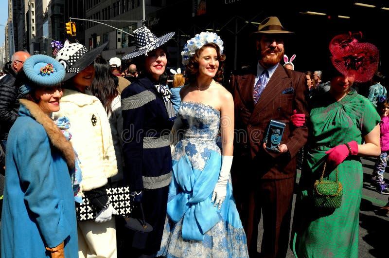 New York City: Participantes 2016 da parada da Páscoa fotografia de stock royalty free