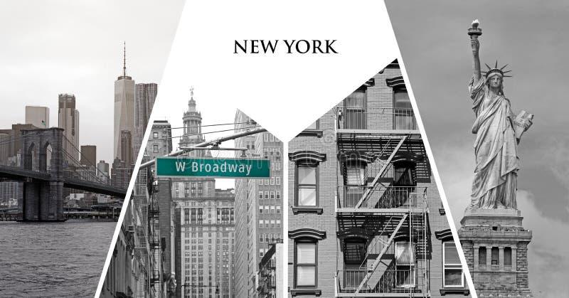 New york city postcard royalty free stock photo