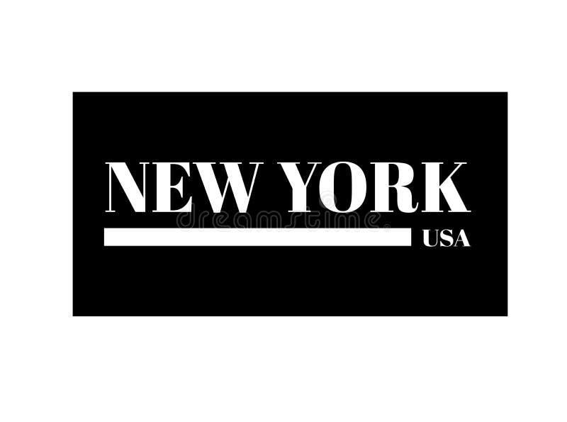 New York City Projeto e fatos da cópia do t-shirt de NY gráficos Tipografia da forma, cartaz, bandeira Ilustração do vetor ilustração royalty free