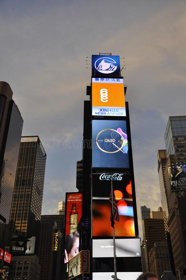 New York City, 3rd July: Times Square by night in Midtown Manhattan from New York City in United States stock image