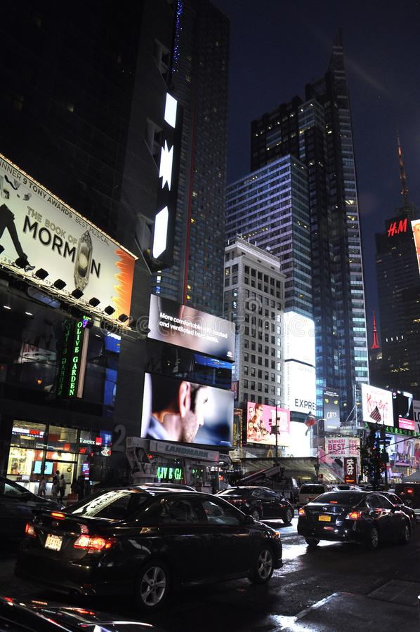 New York City, 3rd July: Times Square by night in Midtown Manhattan from New York City in United States. Times Square by night in Midtown Manhattan from New York stock photo