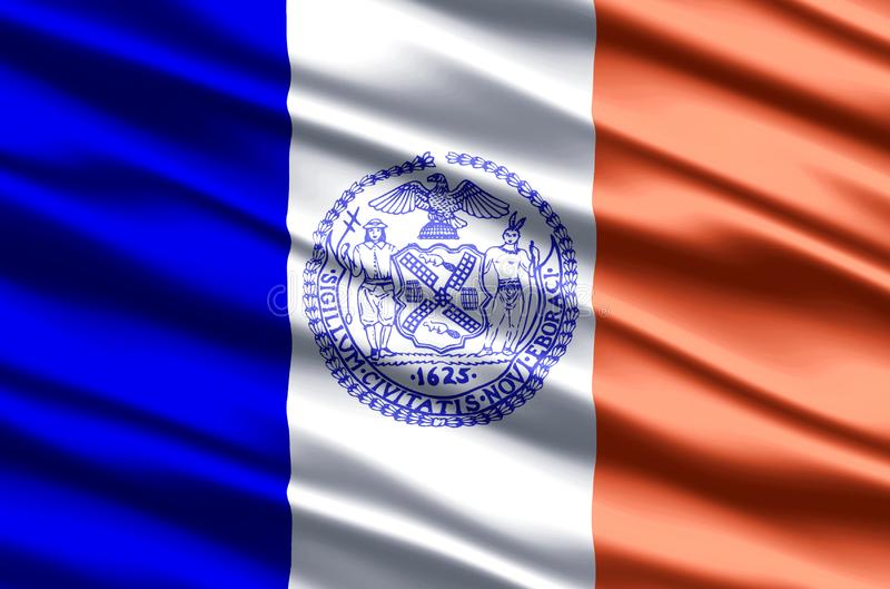 New york city realistic flag illustration. Usable for Background and Texture stock illustration