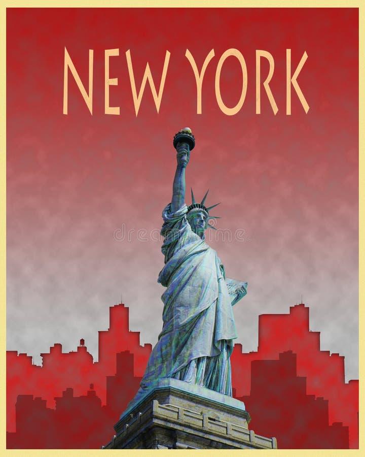 New York City Retro Poster stock illustration