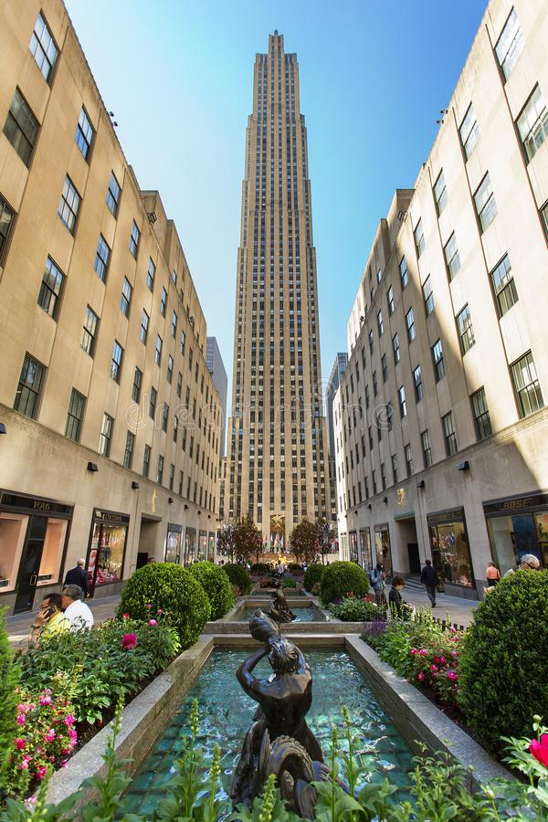 New York City, Rockefeller Center royalty free stock photo
