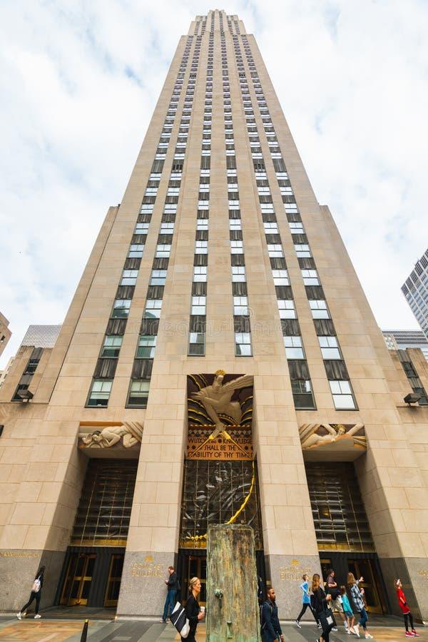 New York City Rockefeller Center, Midtown Manhattan. Rockefeller Plaza, Fifth Avenue, Midtown Manhattan, NYC royalty free stock photos