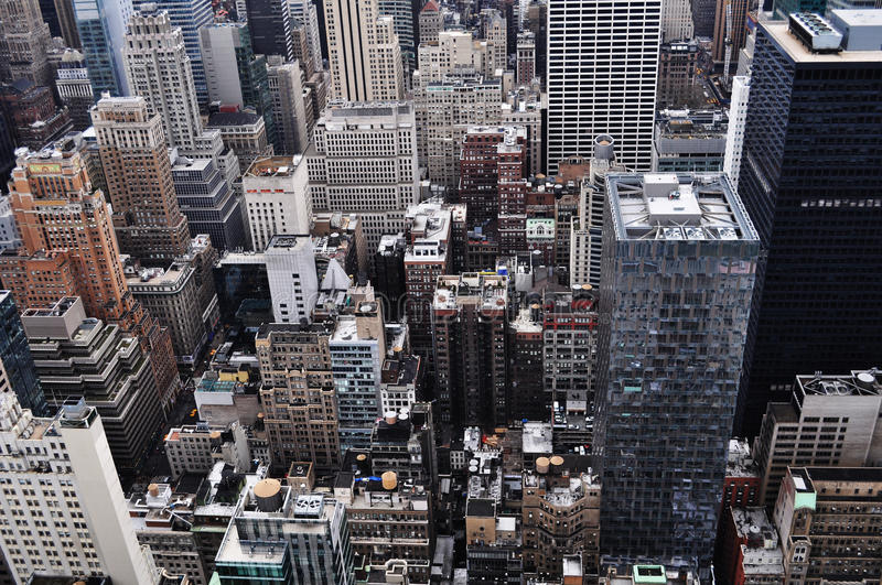 New York City Roof Tops royalty free stock photos