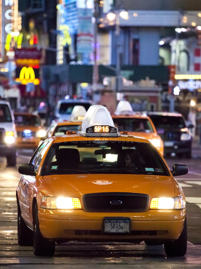 NEW YORK CITY - SEPT 17: Times Square. Featured with Broadway Theaters, Taxi Cabs and animated LED signs, is a symbol of New York City and the United States royalty free stock images