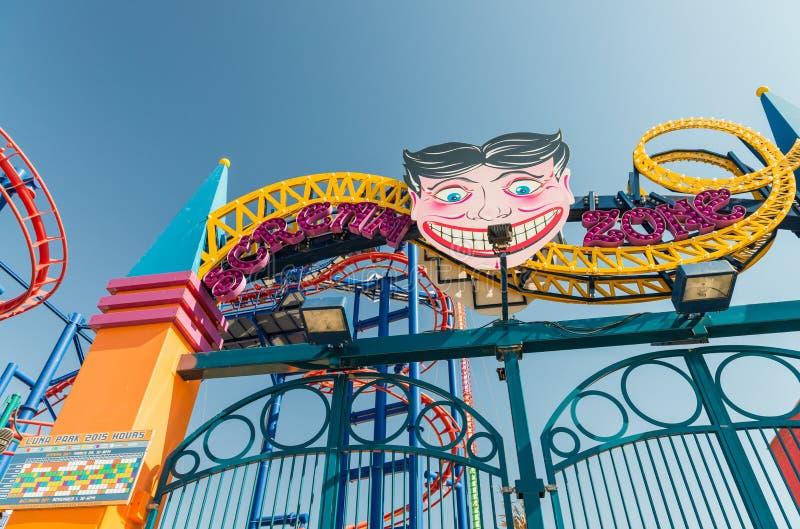 NEW YORK CITY - SEPTEMBRE 2015 : Le parc d'attractions de Luna Park à images stock