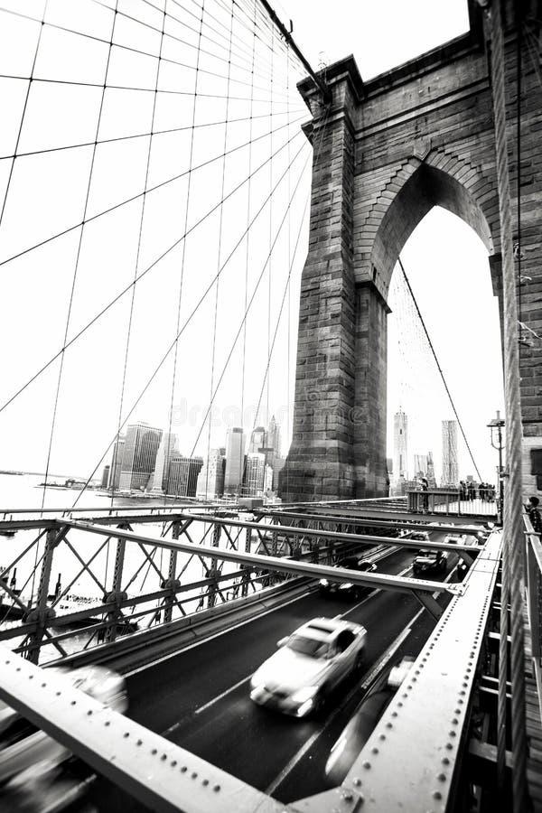New York City Signe, briques, près de la passerelle de Brooklyn photos libres de droits