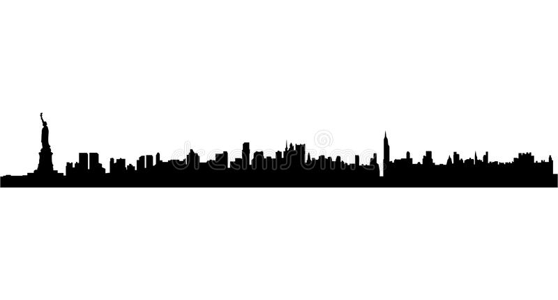 new york city skyline stock vector illustration of metropolis rh dreamstime com new york city skyline vector image new york city skyline vector free download