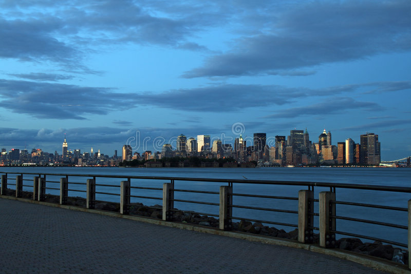 The New York City skyline royalty free stock photography