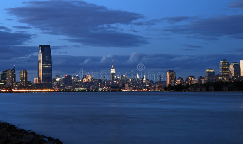 The New York City skyline stock photo