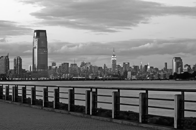 The New York City skyline royalty free stock photos
