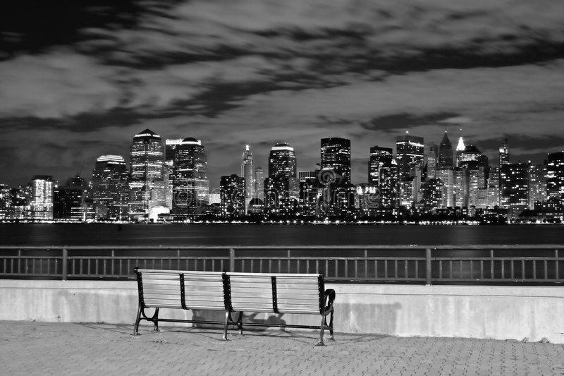 The New York City skyline royalty free stock images