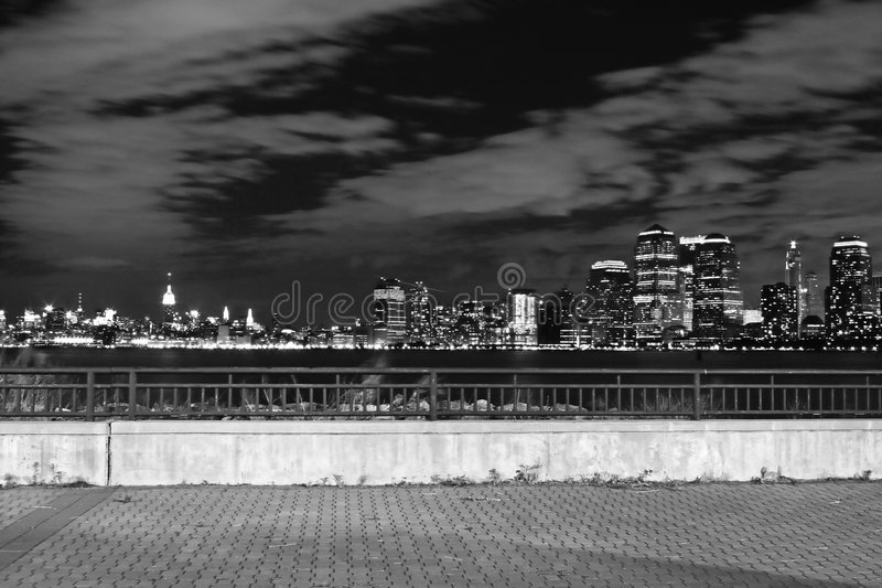 The New York City skyline royalty free stock photo