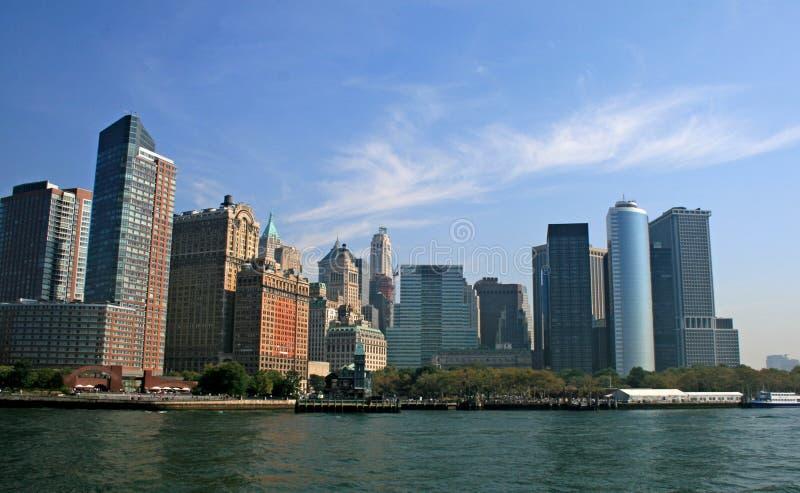 The New York City skyline royalty free stock photography