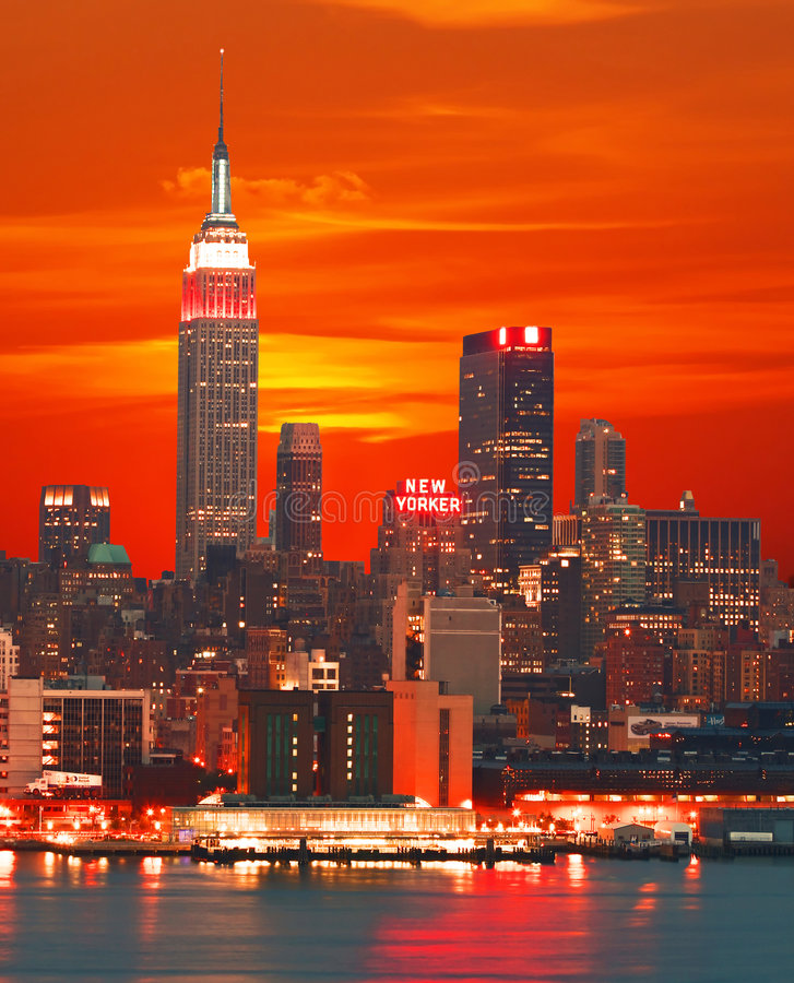 Download New York City skyline editorial stock image. Image of horizon - 4696384