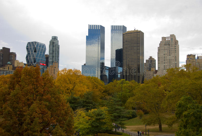 Download New York City Skyline And Central Park In Autumn Stock Photo - Image: 34944760