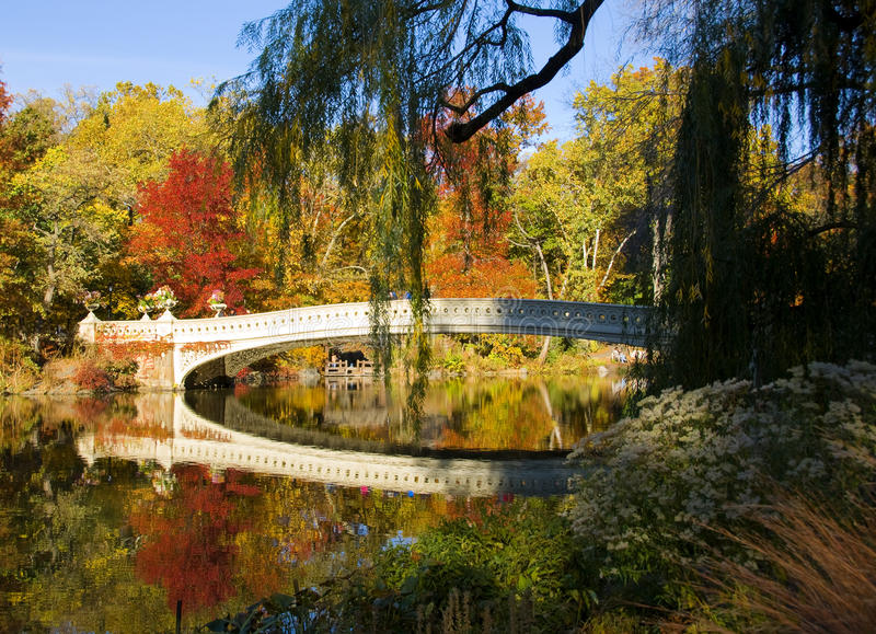 New York City Central Park in Autumn stock image
