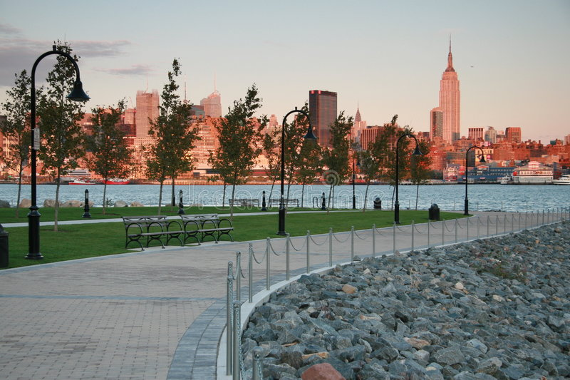 Download New York City Skyline At Dusk From Hoboken, NJ Stock Image - Image: 6778897