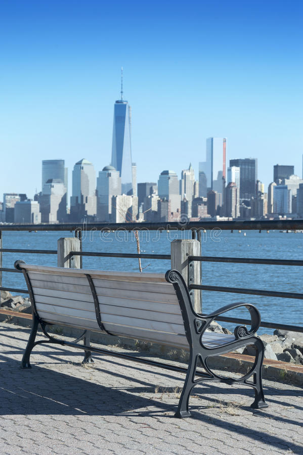 Free New York City Skyline From The Liberty State Pa Stock Photos - 46819763