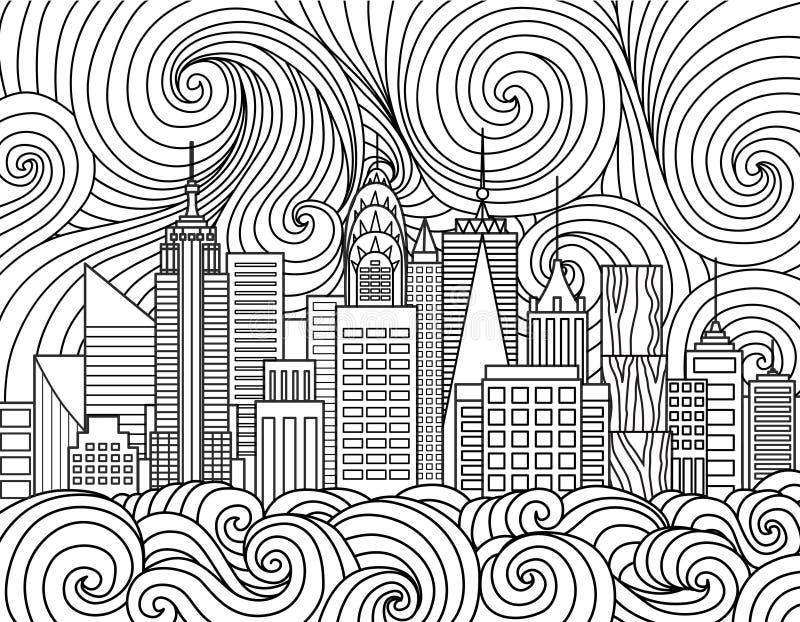 Download New York City Skyline Stock Vector Illustration Of Anti
