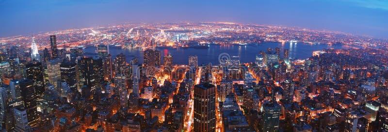 New York City skyline panorama stock image