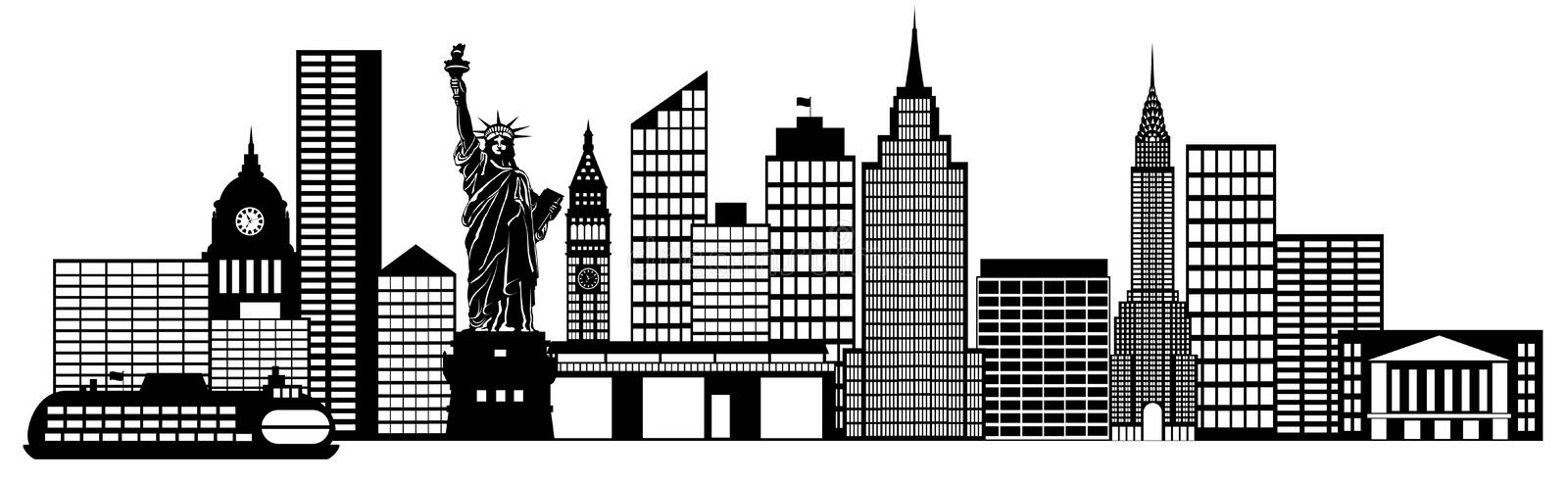 new york city skyline panorama clip art stock illustration rh dreamstime com new york clipart black and white new york clipart skyline