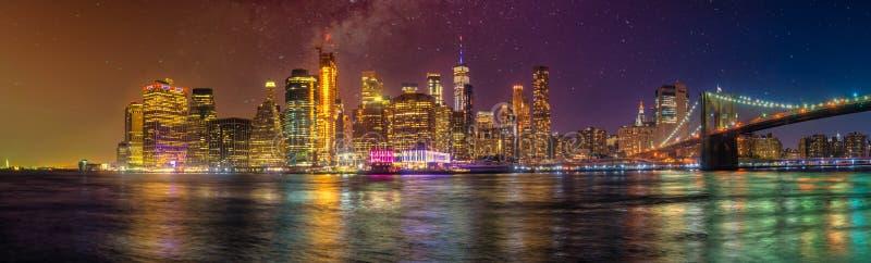 New york city skyline panorama manhattan travel destination manhatten stock photo