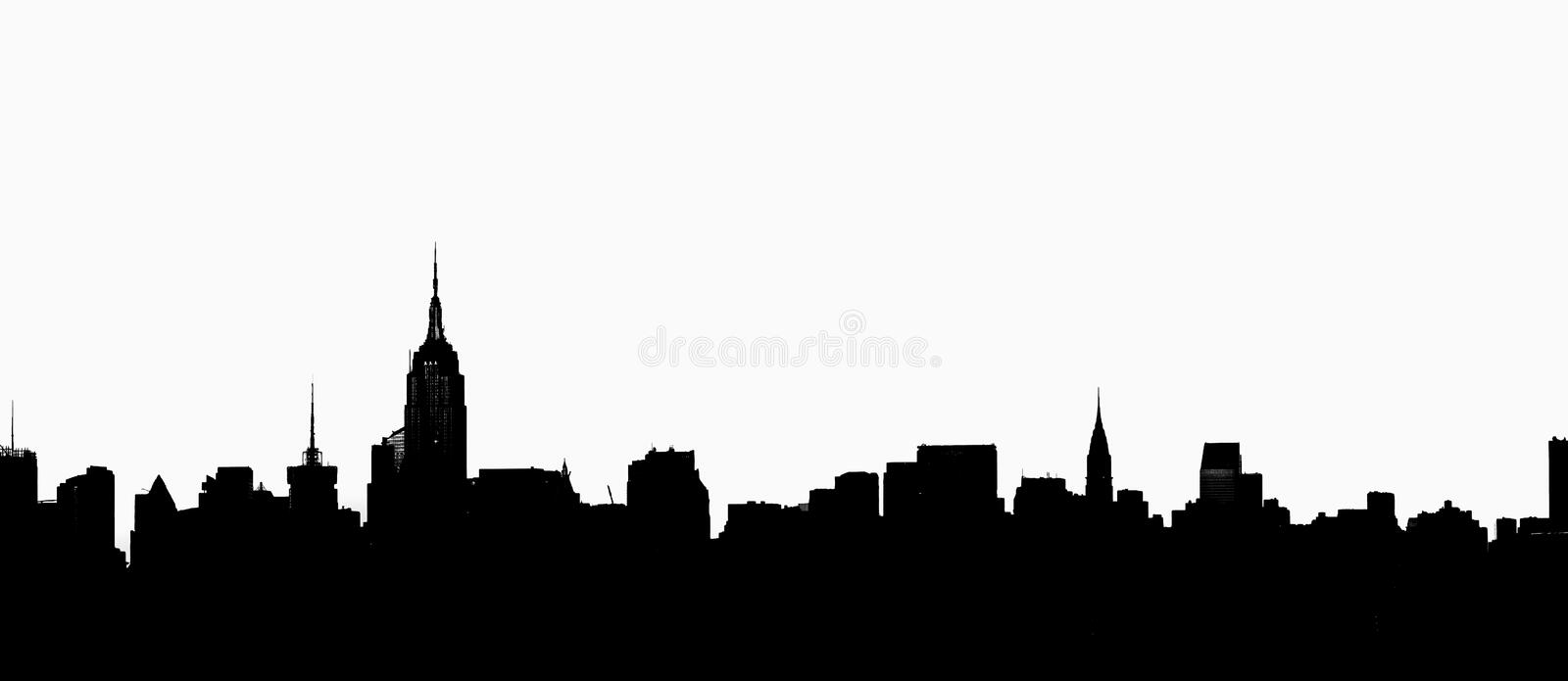New York City Skyline in Profile. The New York City skyline in profile royalty free stock photo