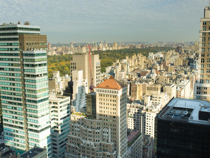 New York City Skyline view of Central Park royalty free stock image