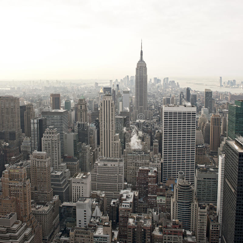 New York City skyline view from Rockefeller. Center, New York, USA royalty free stock photography