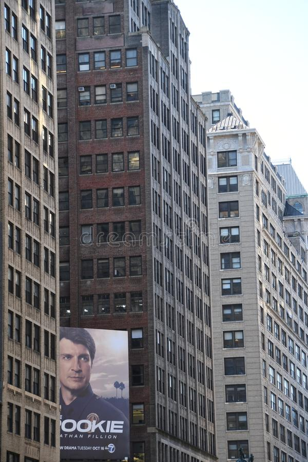 New York City skyscraper in Midtown Manhattan. New York City skyscrapers is located in Midtown part of Manhattan royalty free stock photo