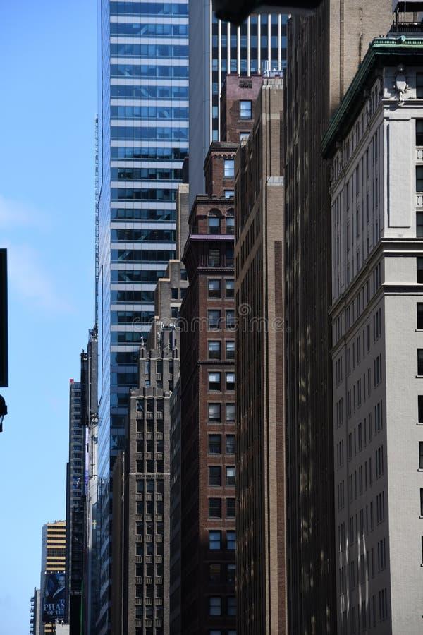 New York City skyscraper in Midtown Manhattan. New York City skyscrapers is located in Midtown part of Manhattan stock photography