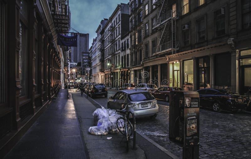 New- York City - Soho-Straßen-Ansicht stockfoto