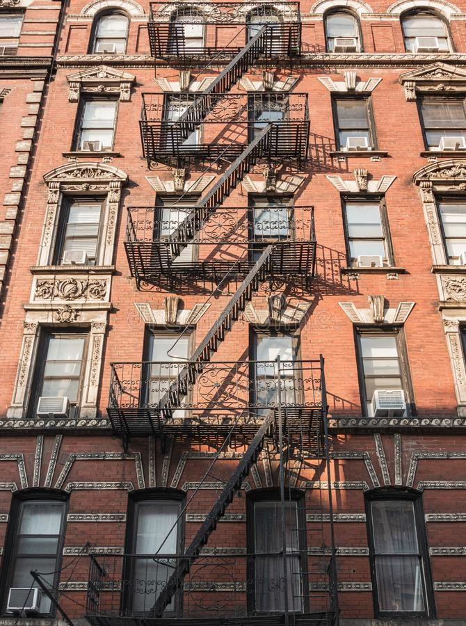 New York City stairs. And apartments stock photography