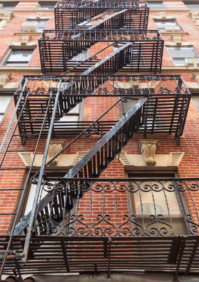 New York City stairs. And apartments royalty free stock photo