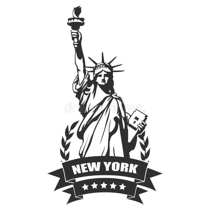 New York City.Statue of Liberty royalty free illustration