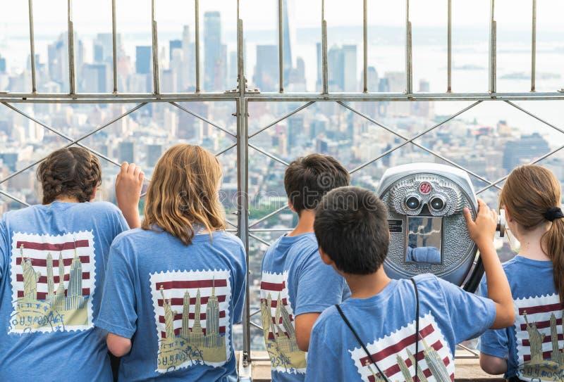 New York City, Stock des Empire State Building-86. Schulexkursion auf Empire State Building lizenzfreie stockbilder