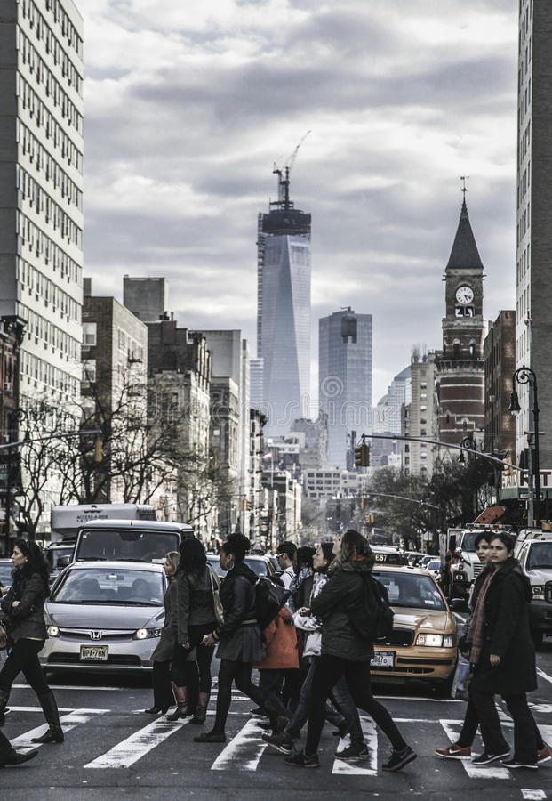 New York City - Straßen-Ansicht lizenzfreies stockfoto