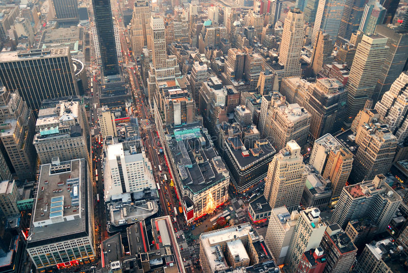 New York City street aerial view royalty free stock images