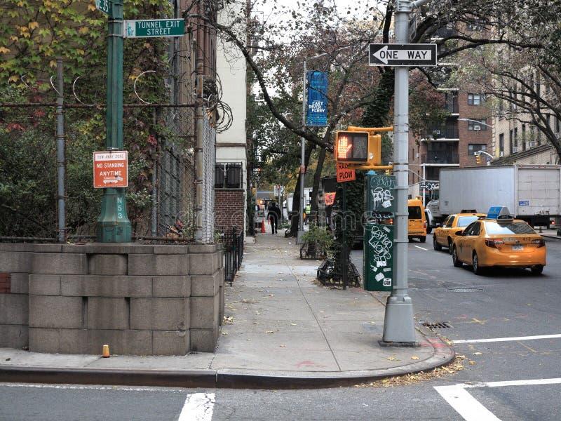 New York City Street Corner Editorial Image Image Of